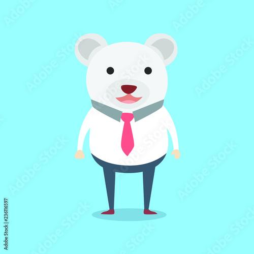 Bear office man cute character