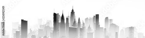 City mist panorama - 236142549