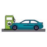 Car on fuel dispenser