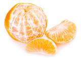 Fresh mandarine on white background