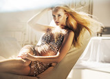 Portrait of an alluring blond lady - 236186583