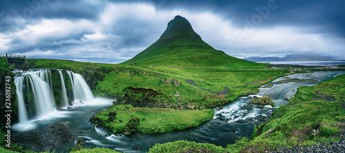 Kirkjufell mountain and waterfall - 236192743