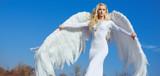 Portrait of an elegant, blond angel - 236195915