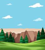 Neautiful nature landscape scene © blueringmedia
