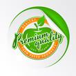 Eco organic food logo