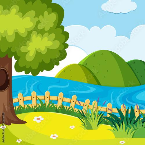 A nature hill landscape - 236210398