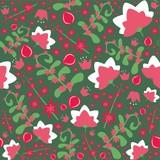 Flower vector seamless pattern. Seamless - 236214569
