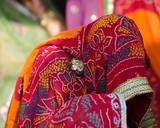 colorful saree , women ,Hindu wedding , Rajasthan, India