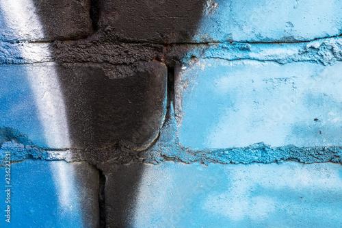 Graffiti painted on a brick wall texture. - 236222331