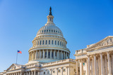 US Capitol over blue sky - 236232186
