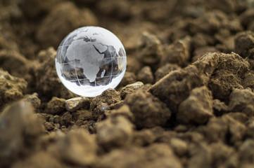 Globo di cristallo terra Africa