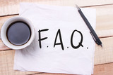 FAQ, Frequently Asked Questions. Words Typography Concept
