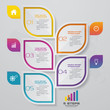 5 steps infographics element template chart for presentation.