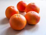 Ripe fresh grapefruits on a table