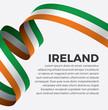 Ireland flag, vector illustration on a white background - 236267722