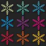 set étiquette soldes- flocon de neige
