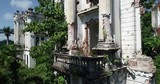ancient graph ruins Aerial. Abkhazia. old house. - 236293164