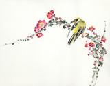 bird and plum blossom branch