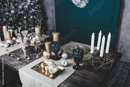 Leinwandbild Motiv beautiful christmas decorations
