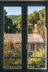 View through the window frame