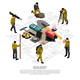 Geologist Isometric Composition  - 236301700