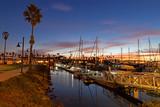 Sunrise at Ventura Harbor in the fall