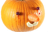 pumpkin decorated for a healthy diet - 236322769