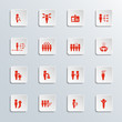 Human resources icon set. Vector illustration.