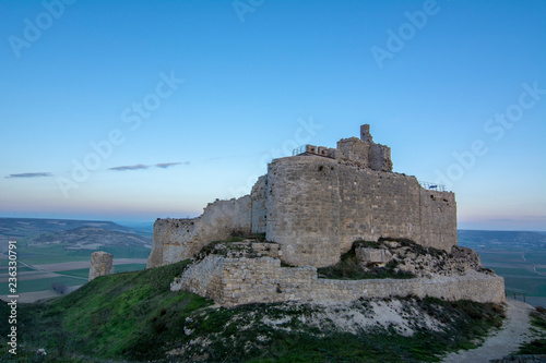 Ruins of the ancient medieval castle of Castrojeriz, Spain.