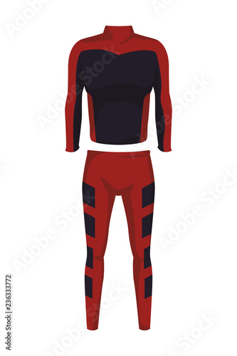 Male fitness sport suit