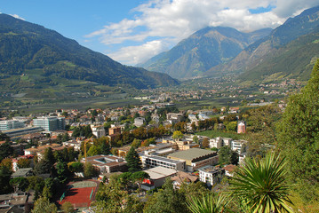 View to Meran and Algund, Position