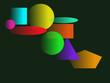 Bunte Figuren auf grünem Hintergrund - 236344578