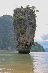 Khao Phing Kan or Ko Khao Phing Kan is an island in Thailand, in Phang Nga Bay northeast of Phuket, commonly known as James Bond Island because this is where they filmed The Man With The Golden Gun.