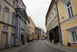 Old cozy streets of Vilnius, Lithuania