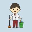 Student keep cleanliness vector  - 236369331