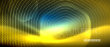 Neon glowing lines, magic energy space light concept, abstract background wallpaper design - 236373393