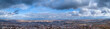 View from the height of the city through the clouds, Rivne, Ukraine - 236388567