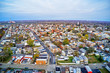 Aerial View of Delaware Riverfront Town Gloucester New Jersey