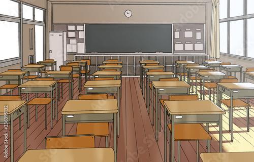 漫画風ペン画イラスト 学校 - 236395132
