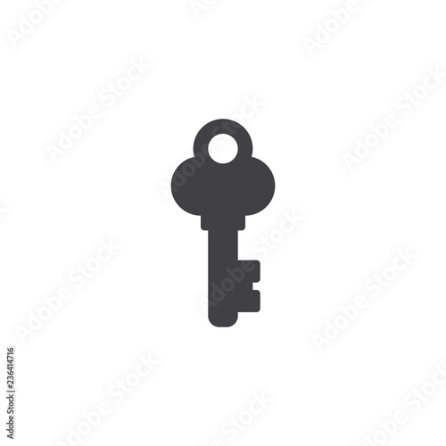 Retro key vector icon. filled flat sign for mobile concept and web design. Vintage key simple solid icon. Symbol, logo illustration. Pixel perfect vector graphics