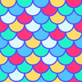 Seamless vector mermaid pattern as fish scale magic background for textile, posters, greeting cards, cases etc