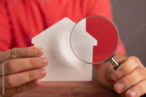 Leinwanddruck Bild immobilie