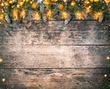 Decorative Christmas rustic background - 236443702