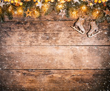 Decorative Christmas rustic background - 236443734