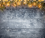 Decorative Christmas rustic background - 236443750