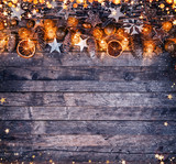 Decorative Christmas rustic background - 236443776