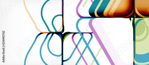 Abstract background multicolored geometric shapes modern design - 236445762