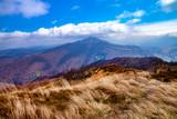Landscape of autumnal peaks of the Carpathians.