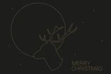 Weihnachtskarte goldener Hirsch