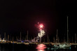 Fireworks in the harbor of Chicgo